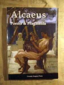 Alcaeus front cover Atlantis Books, Santorini
